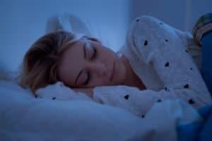 Photo of someone sleeping.