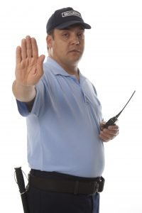 "Photo of a security guard to represent ""guard your mind and heart"", the heading of this section."