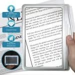 Photo of a page magnifier, a practical gift for senior women.
