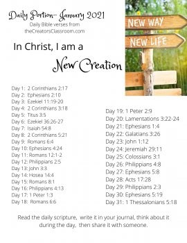Photo of the January bible reading plan.