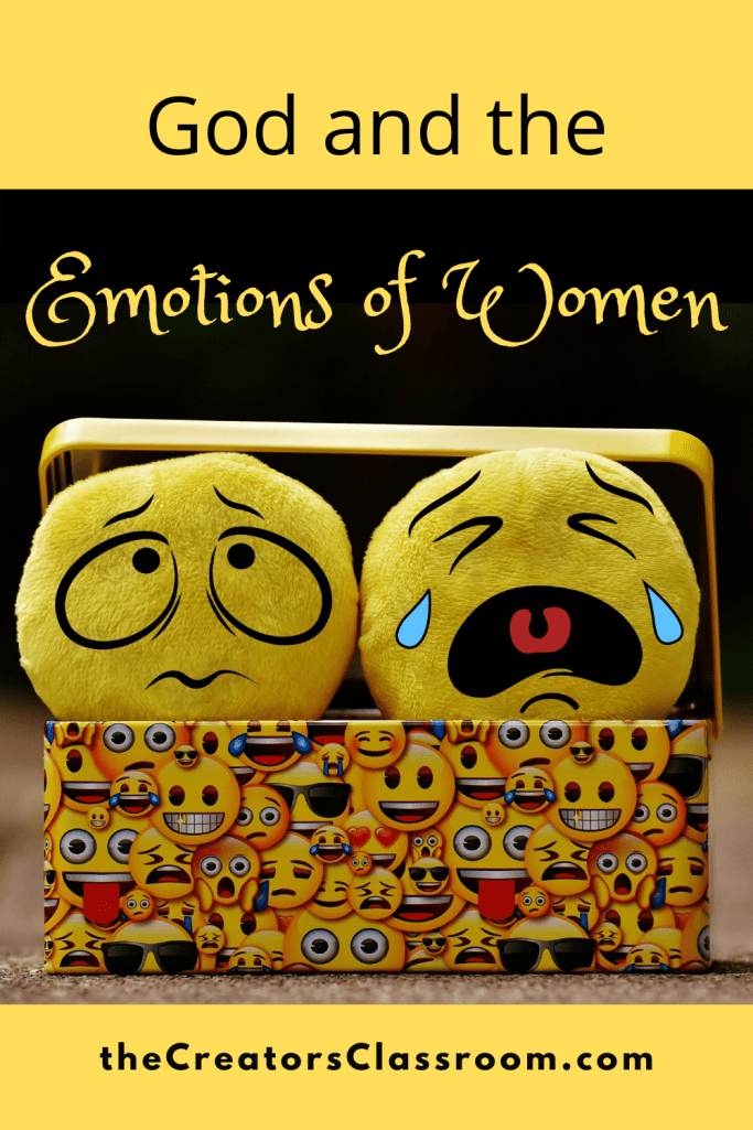 graphic illustrating the emotions of women
