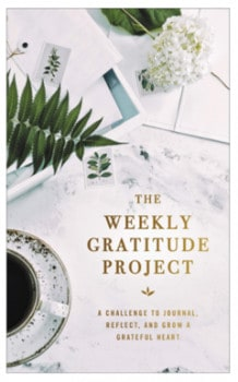 """Picture of the """"Weekly Gratitude Project"""" journal."""