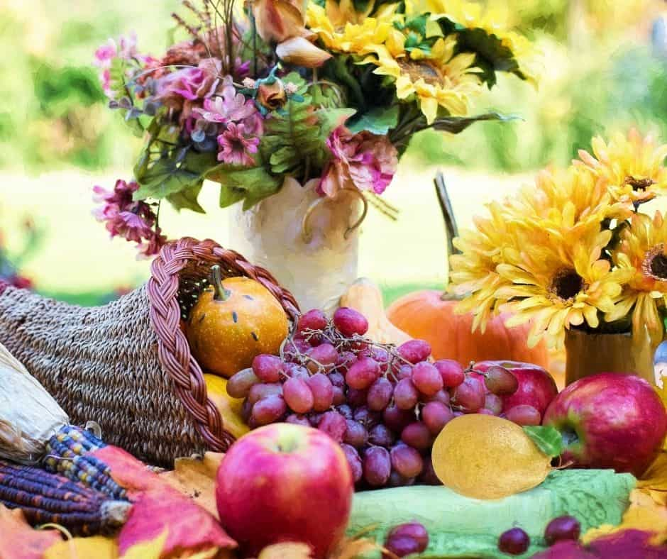 """Photo of harvested fruits and vegetables to represent """"Spiritually Reaping A Harvest""""."""