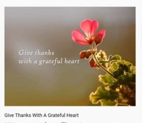 """Photo of the YouTube song """"Give Thanks."""""""