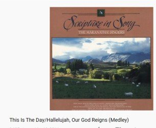 """Photo of the YouTube video with the songs """"This is the day"""", and :Our God reigns."""""""