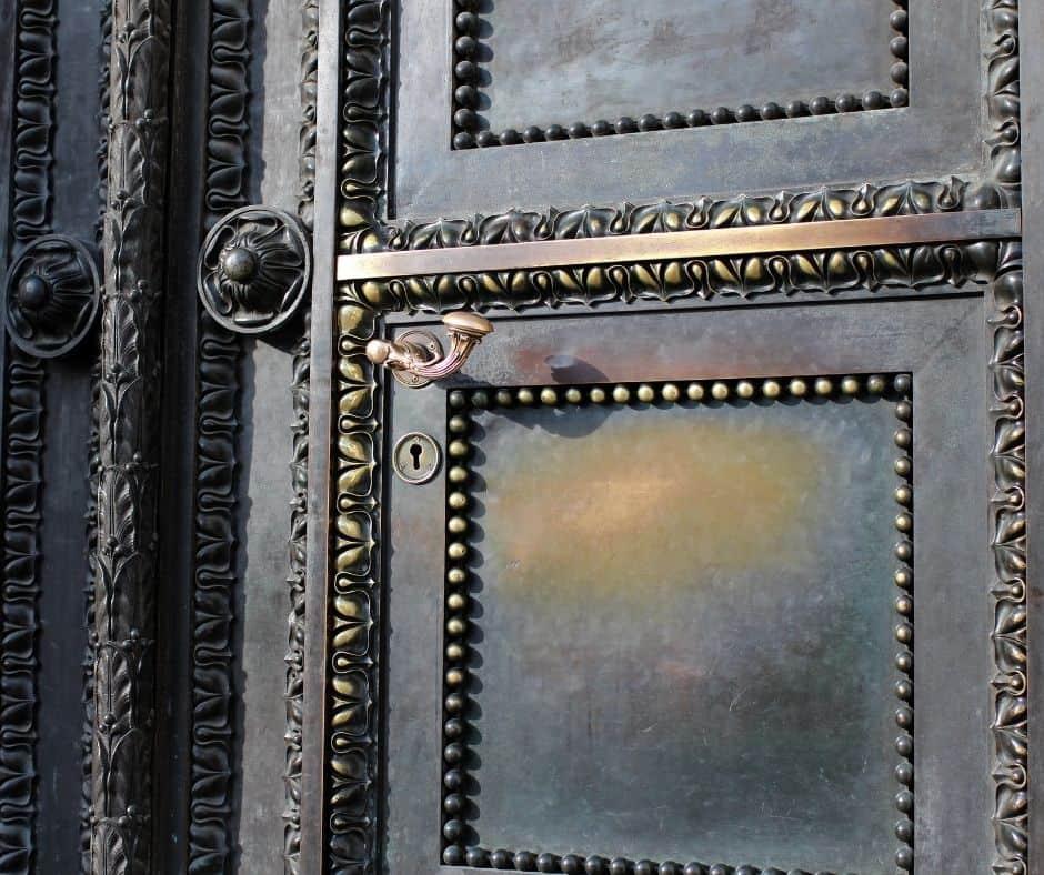 """photo of a closed door to represent """"When God closes a door""""."""